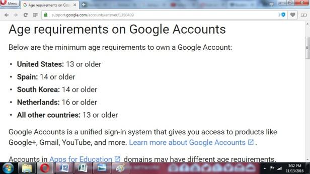 Batas MInimal Google