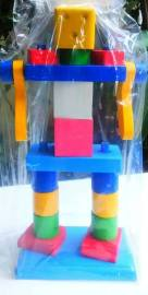 Mainan balok robot